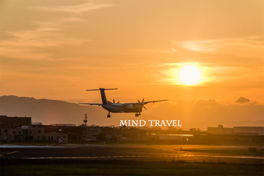 大阪国際空港 夕陽4