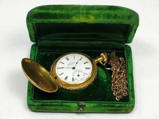 America PHILADELPHIA 金彫刻 懐中時計