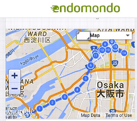 最近はまっている大阪港スタートからの~『中之島ナイトラン』ヽ(^o^)丿