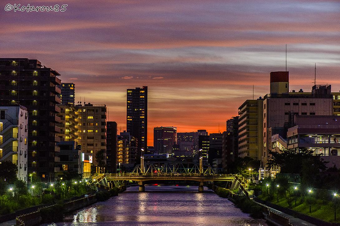 夕焼けの小名木川 20150714