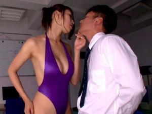 ハイレグフェチの同僚教師を逆レイプする淫乱変態痴女教師 小早川怜子