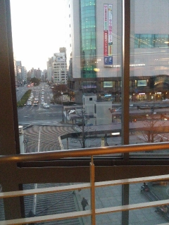 広島駅から見える風景