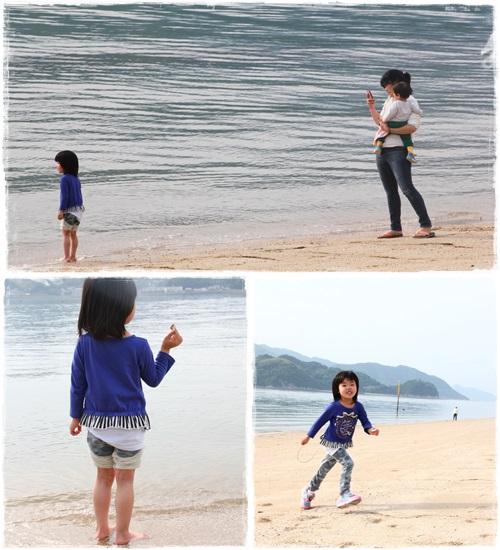 海と姪っ子