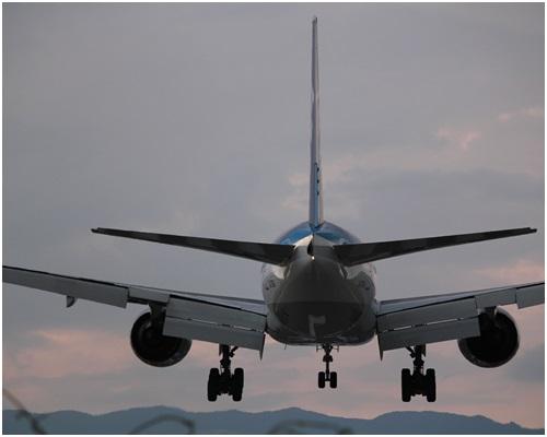 着陸飛行機