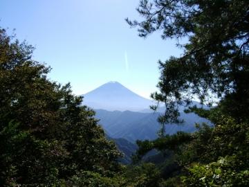 蛾ヶ岳からの富士(市川三郷町)