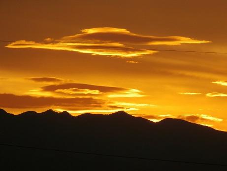 夕日と雲2