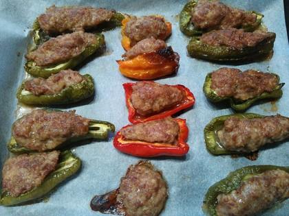 オーブンでピーマンの肉詰め
