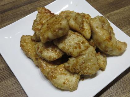 鶏胸肉のニンニク甘辛醤油