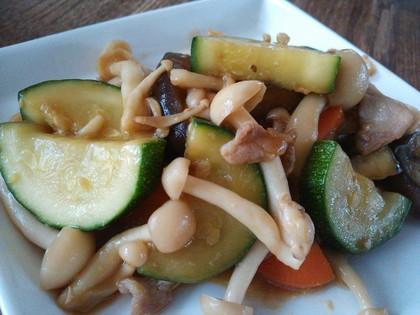 いろいろ野菜の味噌炒め