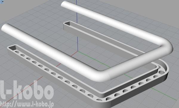 コの字型イカリング3Dデータ