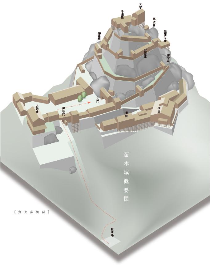 苗木城建物復元図1505naegicastlecg07.jpg