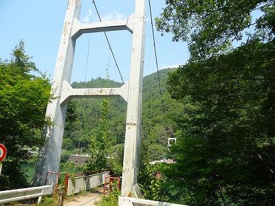 天竜川の吊り橋