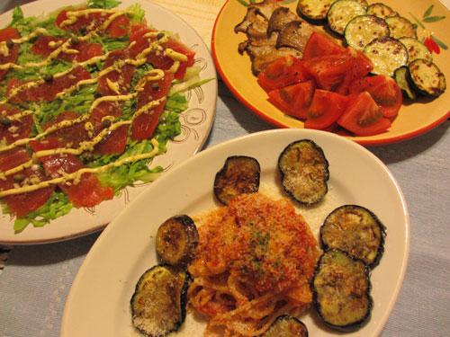 夕食イタリアン