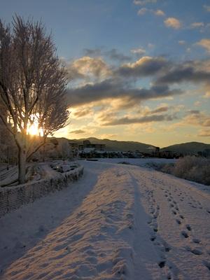 雪の日の出1501