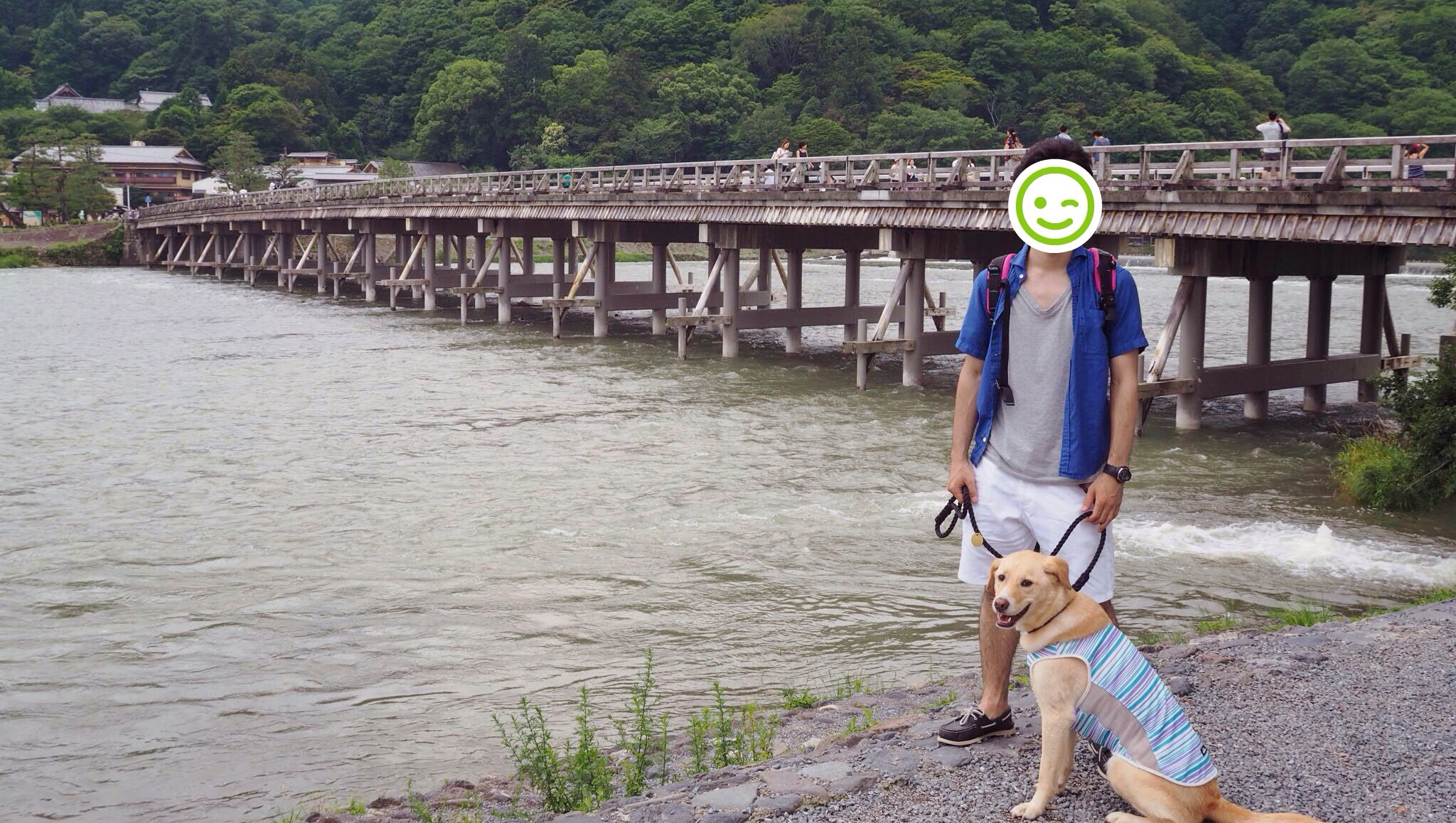 京都旅行 犬 わんこ 嵐山