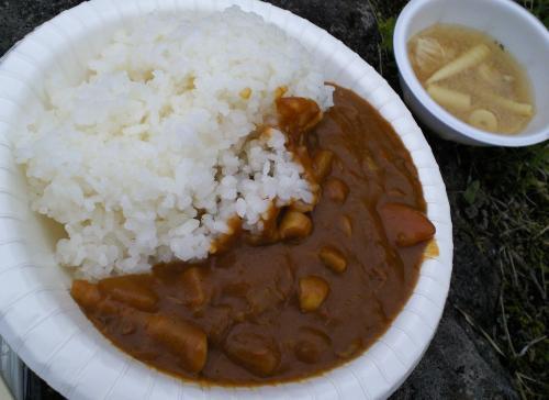 竹の子カレーと竹の子汁(27.6.27)