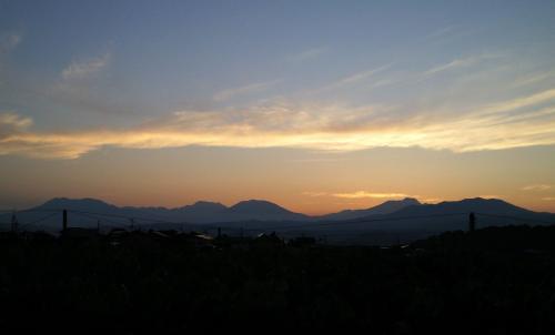 夕日の北信五岳(27.7.11)