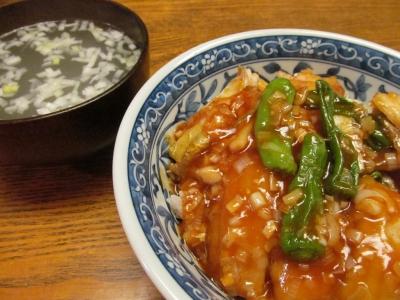 タチウオの甘酢あんかけ丼潮汁付2