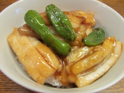 タチウオの甘酢あんかけ丼小1