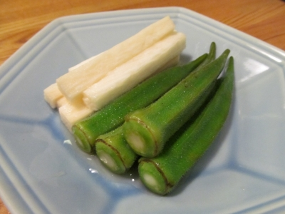 長芋とオクラの煎酒漬け2