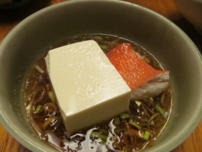 キンメ湯豆腐小鉢1