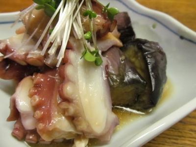 タコと茄子の生姜ソースアップ2