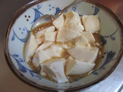 豆腐と麺つゆ1