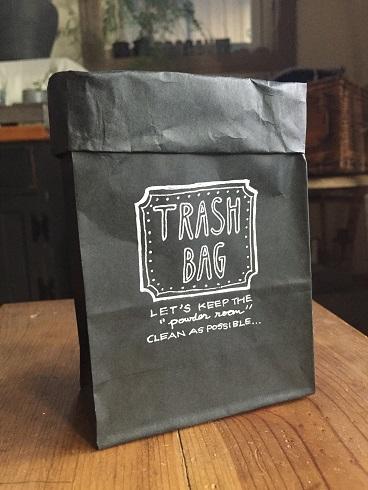 紙袋ごみ箱