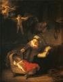レンブラント4天使のいる聖家族