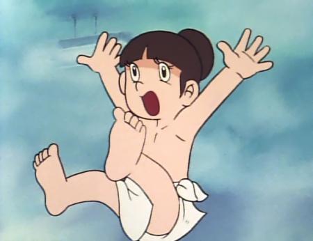 ドカベン 山田サチ子の全裸入浴シーン62