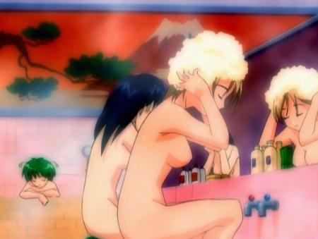 円盤皇女ワるきゅーレ1期 銭湯の女性客の全裸入浴シーン67