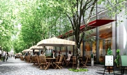 4 ケヤキ並木 オープンカフェ