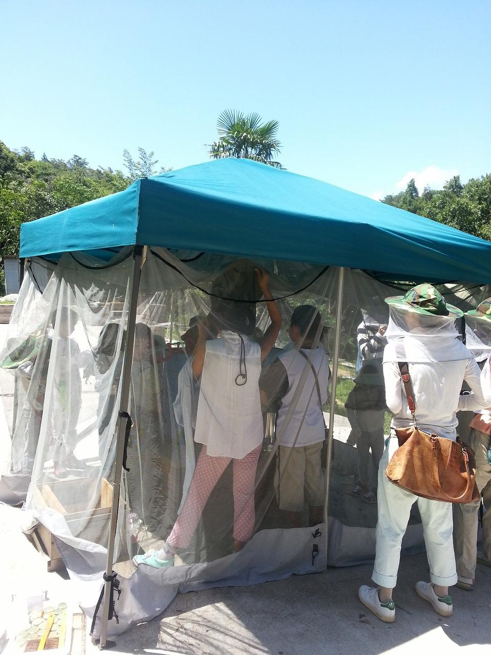 採蜜用テント