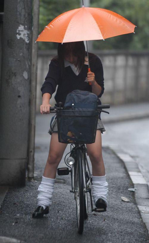 【三次画像あり】 JK自転車パンチラ女子高生集めたから貼ってくよ~♪ 54枚 part.14 No.4