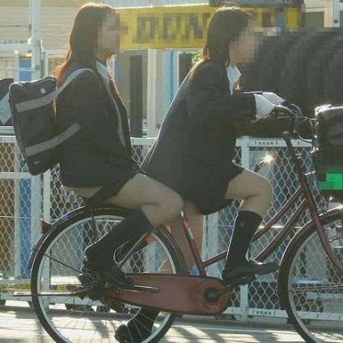 【三次画像あり】 JK自転車パンチラ女子高生集めたから貼ってくよ~♪ 54枚 part.14 No.7