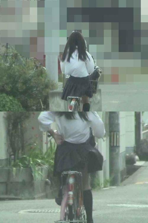 【三次画像あり】 JK自転車パンチラ女子高生集めたから貼ってくよ~♪ 54枚 part.14 No.9