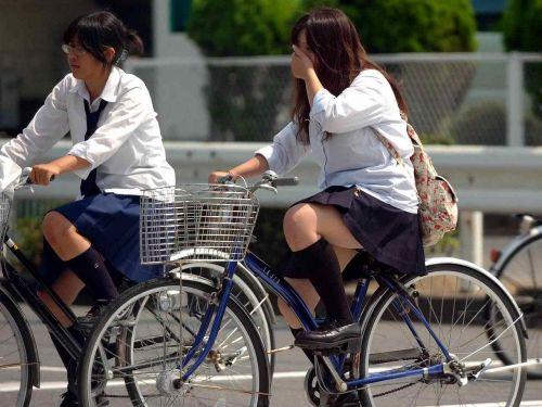 【三次画像あり】 JK自転車パンチラ女子高生集めたから貼ってくよ~♪ 54枚 part.14 No.11