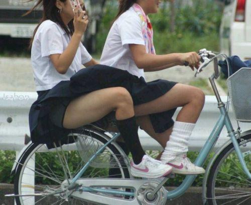 【三次画像あり】 JK自転車パンチラ女子高生集めたから貼ってくよ~♪ 54枚 part.14 No.13