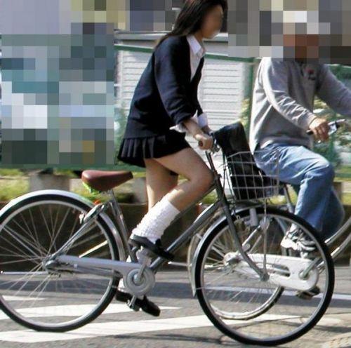 【三次画像あり】 JK自転車パンチラ女子高生集めたから貼ってくよ~♪ 54枚 part.14 No.14