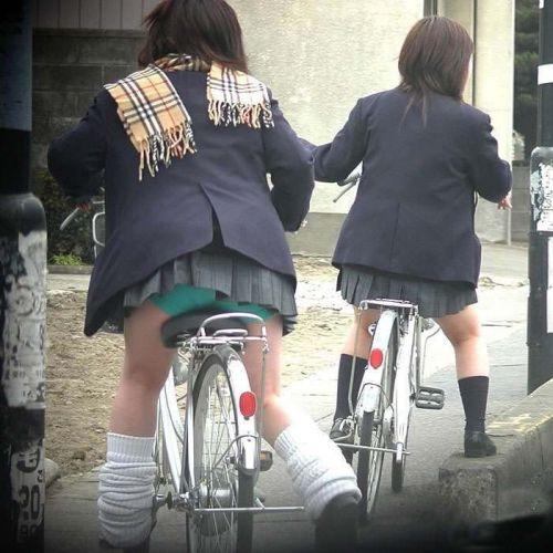 【三次画像あり】 JK自転車パンチラ女子高生集めたから貼ってくよ~♪ 54枚 part.14 No.17