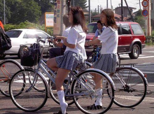 【三次画像あり】 JK自転車パンチラ女子高生集めたから貼ってくよ~♪ 54枚 part.14 No.19