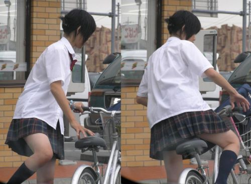 【三次画像あり】 JK自転車パンチラ女子高生集めたから貼ってくよ~♪ 54枚 part.14 No.24