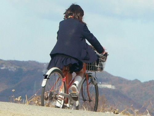 【三次画像あり】 JK自転車パンチラ女子高生集めたから貼ってくよ~♪ 54枚 part.14 No.25