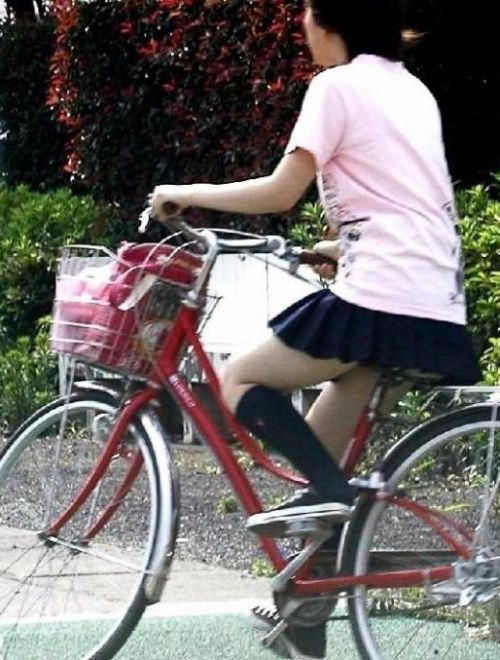 【三次画像あり】 JK自転車パンチラ女子高生集めたから貼ってくよ~♪ 54枚 part.14 No.29