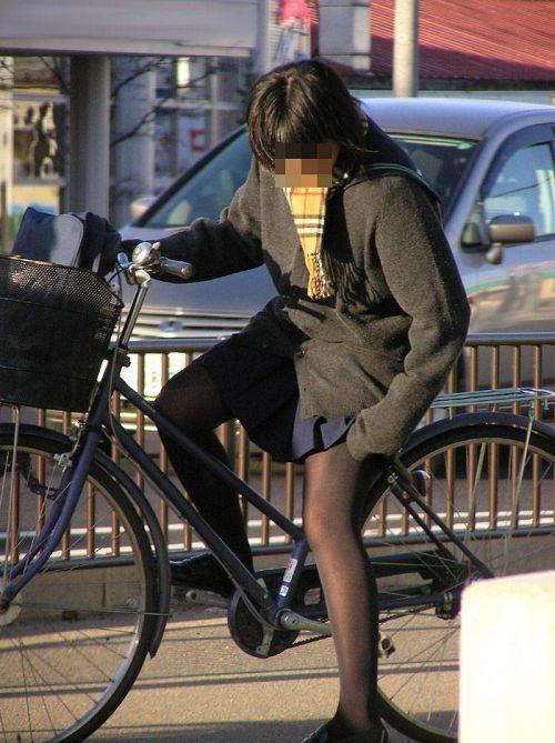 【三次画像あり】 JK自転車パンチラ女子高生集めたから貼ってくよ~♪ 54枚 part.14 No.33