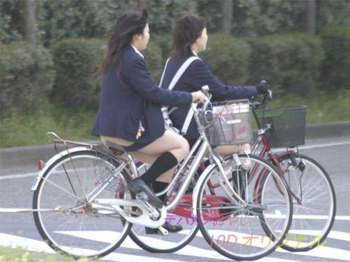 【三次画像あり】 JK自転車パンチラ女子高生集めたから貼ってくよ~♪ 54枚 part.14 No.35