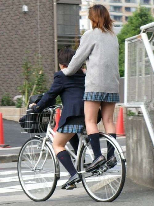 【三次画像あり】 JK自転車パンチラ女子高生集めたから貼ってくよ~♪ 54枚 part.14 No.37