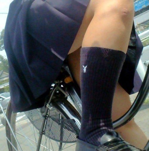 【三次画像あり】 JK自転車パンチラ女子高生集めたから貼ってくよ~♪ 54枚 part.14 No.40