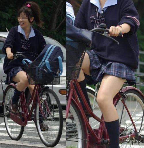 【三次画像あり】 JK自転車パンチラ女子高生集めたから貼ってくよ~♪ 54枚 part.14 No.42