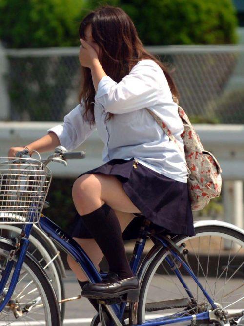 【三次画像あり】 JK自転車パンチラ女子高生集めたから貼ってくよ~♪ 54枚 part.14 No.43
